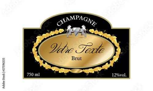 Fotografie, Obraz  Etiquette champagne 04