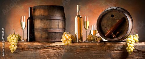 Papiers peints Vin still life with white wine