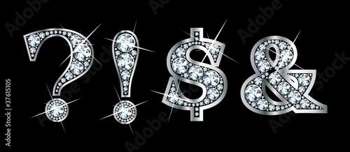 Valokuva  Diamond Bling Punctuation