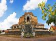 Ancient pagoda built with bricks.