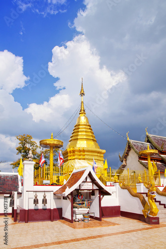 The golden pagoda. Canvas Print
