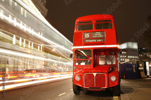 London Route Master Bus плакат