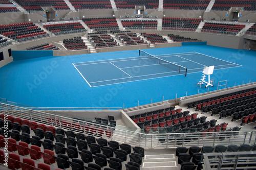 Aluminium Prints Stadion Centre Court Indoor Tennis Stadium