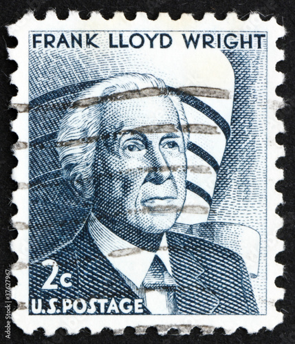 Photo  Postage stamp USA 1965 Frank Lloyd Wright