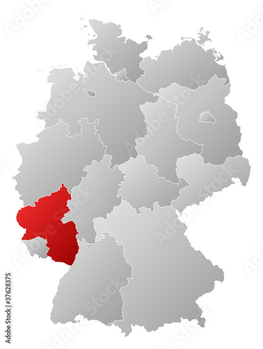 Map Of Germany Rhineland.Map Of Germany Rhineland Palatinate Highlighted Buy This Stock