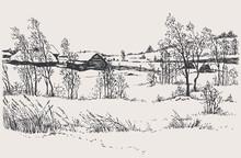 Vector Winter Landscape. A Col...