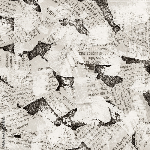 Garden Poster Newspapers collage background