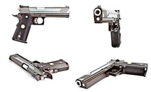 A Set Of Modern Semi Automatic Handgun