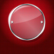 Red background with glass circle frame for your text