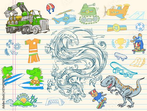 Doodle Sketch Vector IllustrationDesign Elements Poster