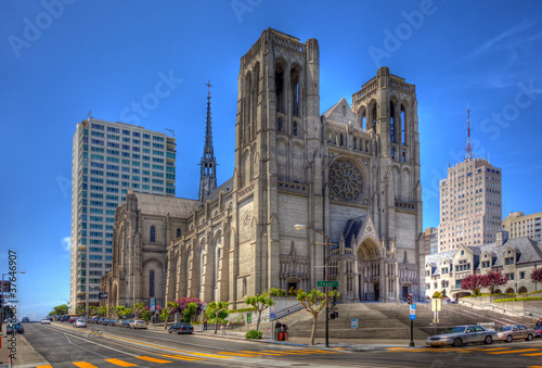 Spoed Foto op Canvas San Francisco grace cathedral in san francisco