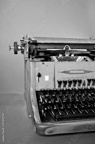 9bc2e14ae70 Old vintage typewriter with russian keyboard - Buy this stock photo ...