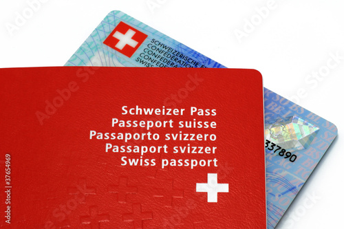 Id Karte.Schweizer Pass Mit Id Karte Buy This Stock Photo And Explore