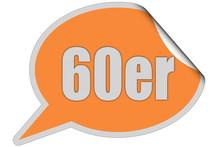 SP-STicker Orange Curl Oben 60ER
