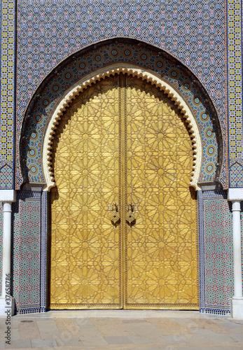 Poster Maroc Palazza Reale - Fez - Marocco