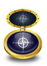Compass Button (vector)