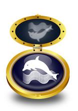 Dolphin Button (vector)