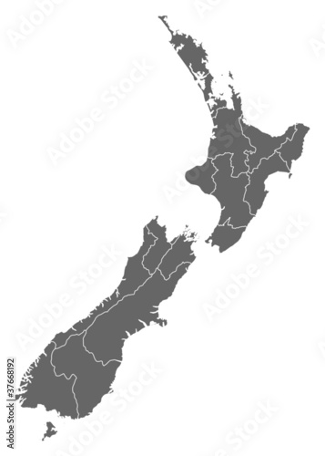 Cuadros en Lienzo Map of New Zealand