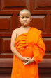 a boy as buddhist novice asia