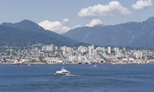 Panorama Of North Vancouver With Sea Bus