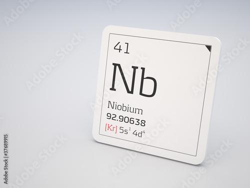 Fotografia  Niobium - element of the periodic table