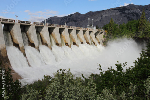 Photo sur Aluminium Barrage Hydro Electric Dam Spillway