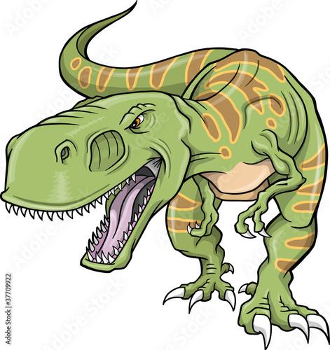 Printed kitchen splashbacks Cartoon draw Tyrannosaurus Dinosaur Vector Illustration