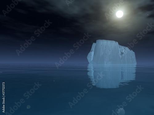 Fotografie, Obraz  Iceberg in open sea