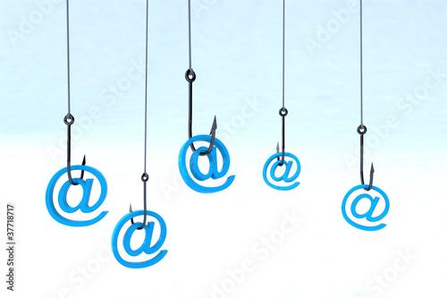 Fotografía  technology phishing concept