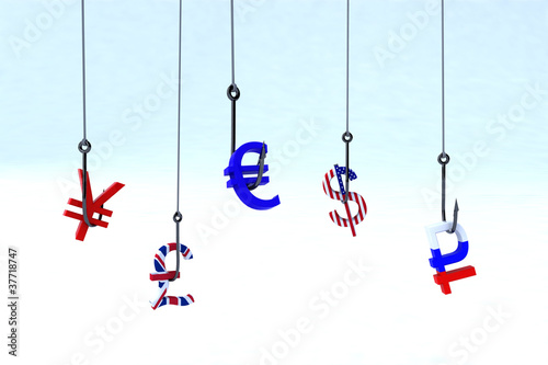 Cuadros en Lienzo concept phishing money