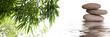 bannière zen galets bambous