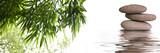 Fototapeta Kamienie - bannière zen galets bambous