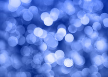 Christmas Lights And Bokeh (blue)