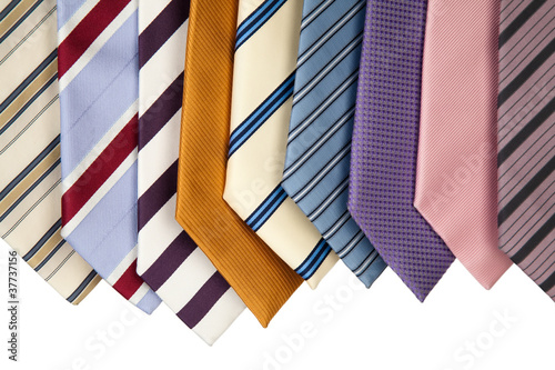 Photo collection of neckties hanning