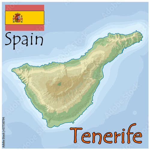 Map Of Spain Tenerife.Tenerife Spain Map Flag Emblem Buy This Stock Vector And Explore