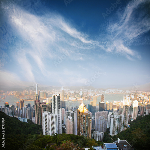 Keuken foto achterwand Hong-Kong over view of Hongkong
