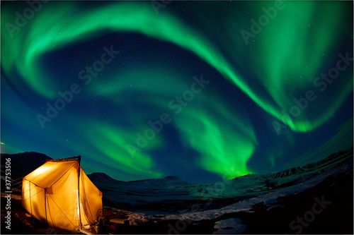 Photo sur Aluminium Aurore polaire Northern lights