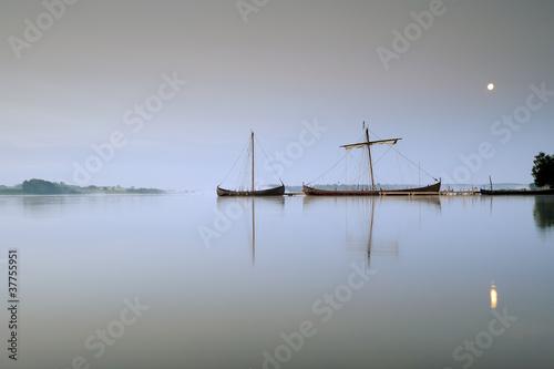 Fotografie, Obraz  Vikingské lodi