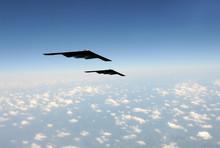 Strategic Bombers In Flight