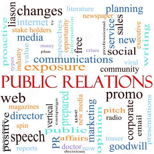Fotografie, Tablou  Public Relations Word Cloud