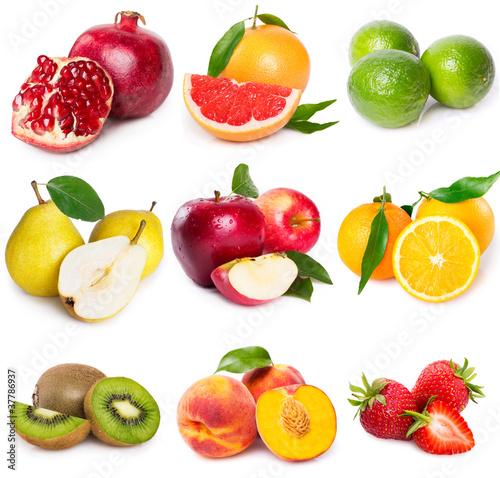 Foto op Aluminium Vruchten Fruit collage