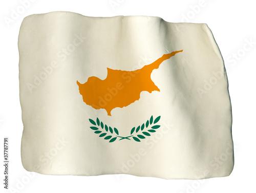 Fotografie, Tablou  Cipro bandiera di plastilina