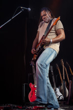 Rock Guitarist Performing On S...