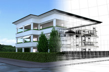 Appartamento Rendering 3d Exte...