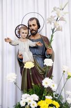 Saint Joseph With Little Jesus