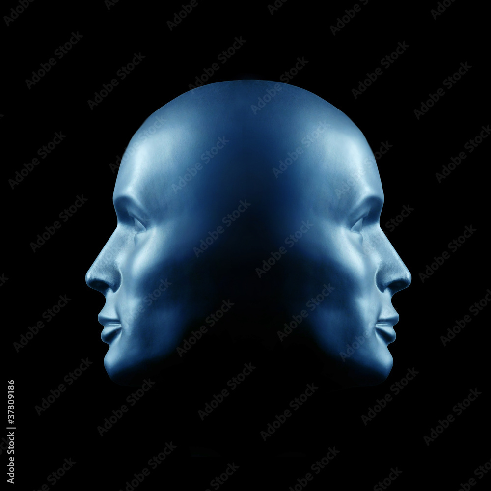 Fototapety, obrazy: Two-faced head statue