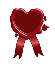 Red Heart In The Shape Of Broken Heart