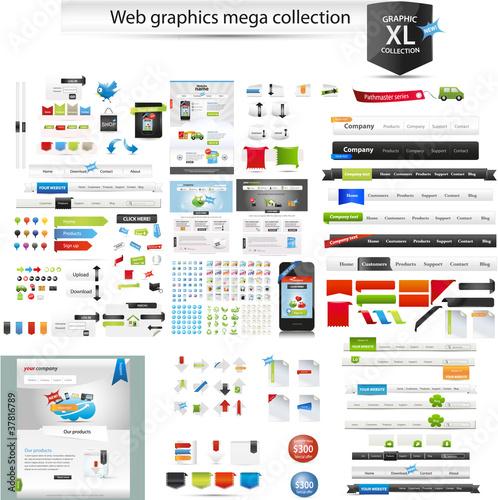 Fotografía  Web graphics mega collection - startup graphics