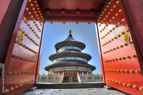 Fond de hotte en verre imprimé Pékin Temple of Heaven in Beijing, China
