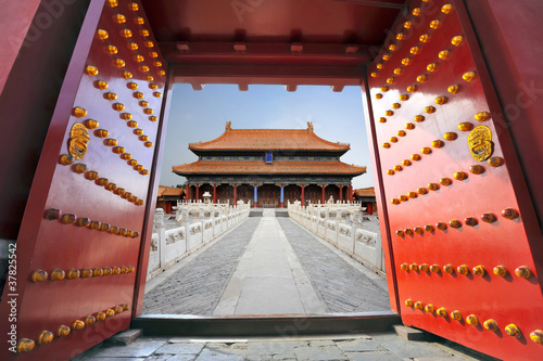 Aluminium Prints Peking Forbidden city in Beijing , China
